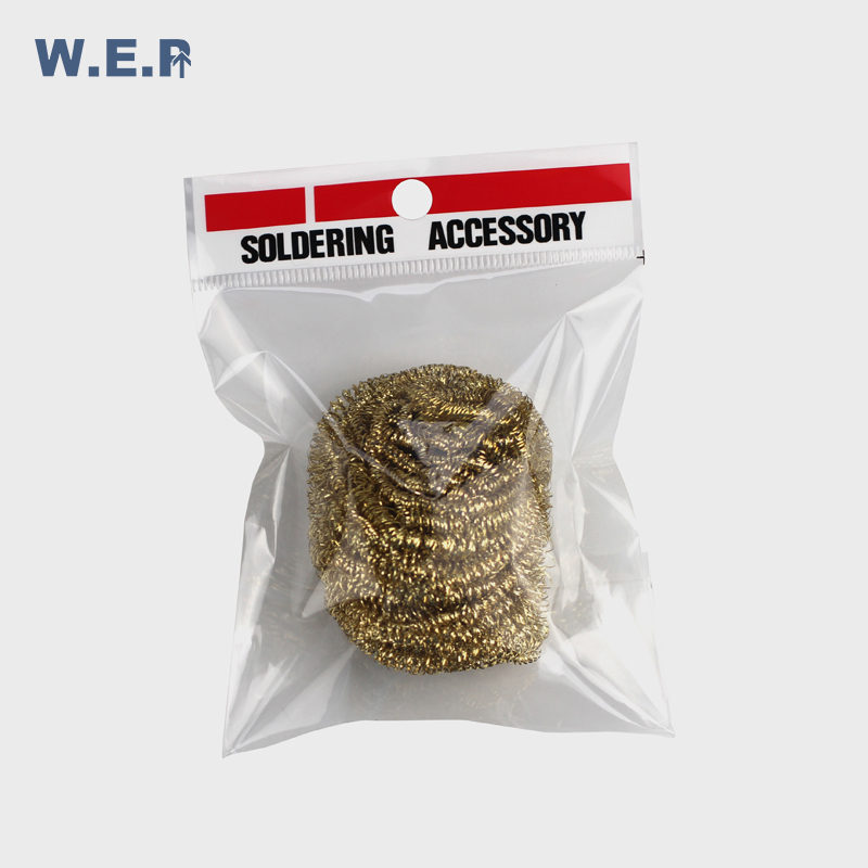WEP Cleaning Nozzle Tip Copper Wire Cleaner Steel Wire Sponge Balls Welding Soldering Solder Iron Tip Cleaner