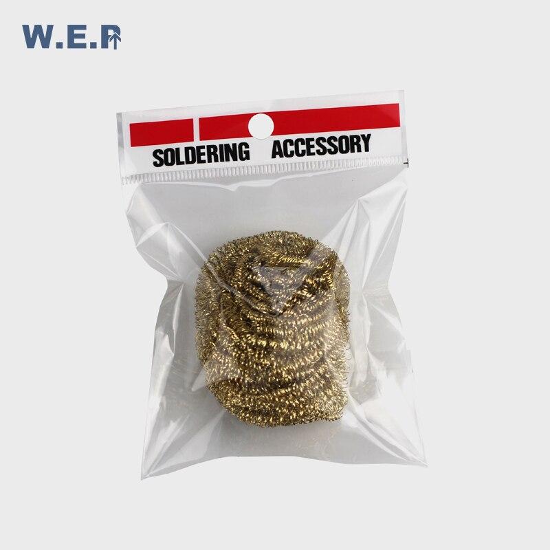 WEP Cleaning Nozzle Tip Copper Wire Cleaner Steel Wire Sponge Balls Welding Soldering Solder Iron Tip Cleaner