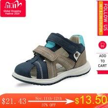 Apakowa Unisex bebek erkek kapalı ayak sandalet çocuklar yumuşak deri yürüyüş Sandal ayarlanabilir ayakkabı plaj seyahat spor aktiviteleri