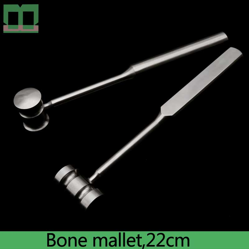 Bone Hammer Stainless Steel 22cm Two-sided Bone Mallet Surgical Operating Instrument Eye Shaping Plastic And Aesthetic Surgery