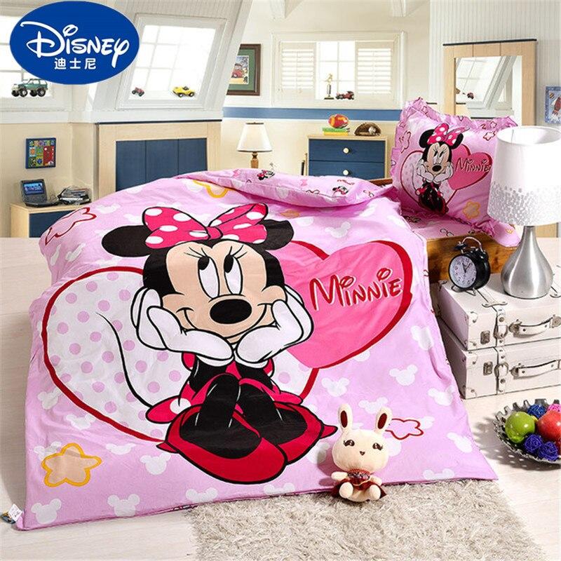 Disney Cartoon Minnie Mickey Mouse Sophia Mcqueen Car Bedding Set Crib 3 Pieces Covered Sheet Pillow Case Crib Boy Girl 0 6 Bed Bedding Sets Aliexpress