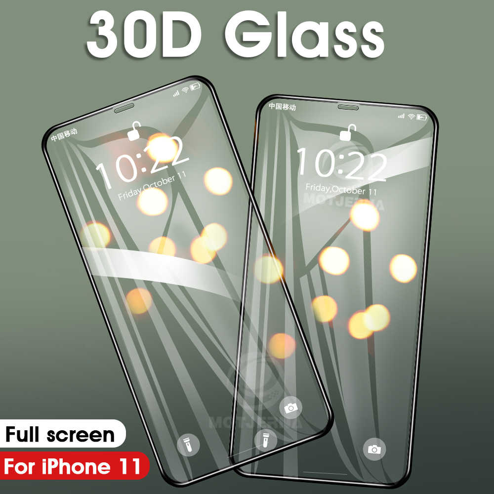 30D Full Screen Protector Für iPhone 11 Glas Gehärtetem Glas Abdeckung Für iPhone 11 Pro XS Max XR X Coque 7 8 6S 6 Plus Glas Film