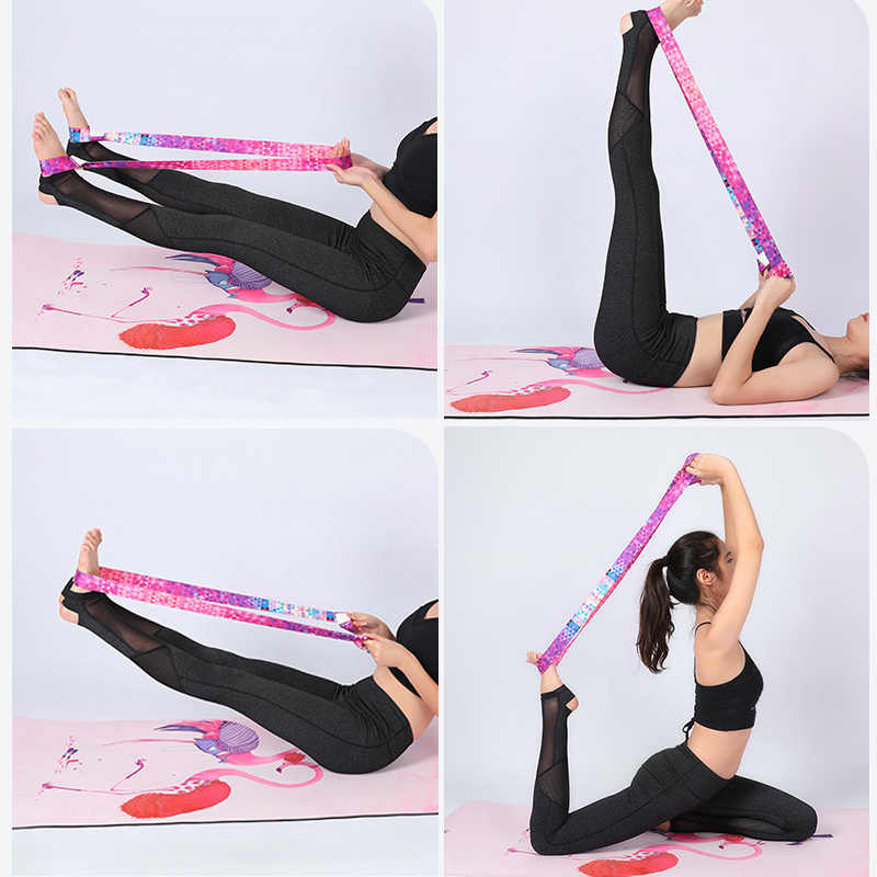 Yoga Matte Strap Gürtel Einstellbare Sport Schlinge Schulter Tragen Strap Gürtel Multi-funktion Übung Fitness Elastische Yoga Stretch Gürtel