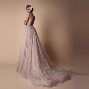 Image 5 - Vestido de novia largo de cristal con tirantes finos, Espalda descubierta, para playa, Bohemia boda, longitud hasta el suelo, 2020