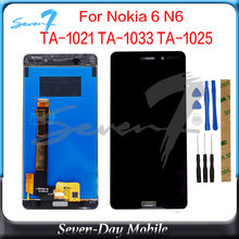 5.5 inch Tested LCD Display Touch Sensor For Nokia 6 LCD TA-1021 TA-1033 TA-1025 LCD Display Assembly Touch Screen(China)