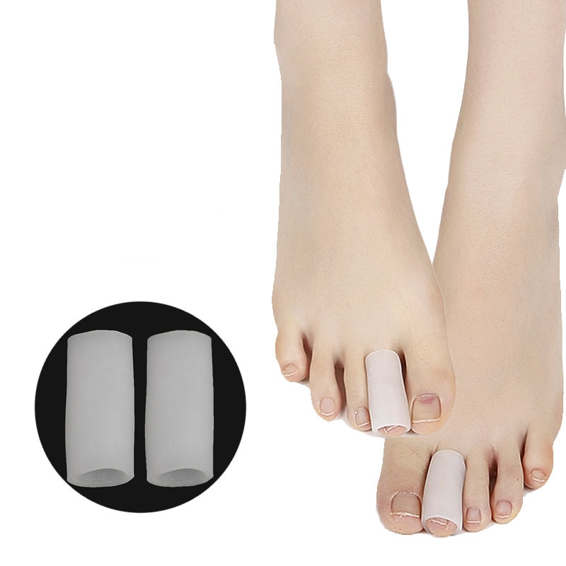 2pcs/pair Gel Tube Finger Toe Protectors Foot Feet Pain Relief Guard For Feet Care Insoles Massager Toe Separation Health Care