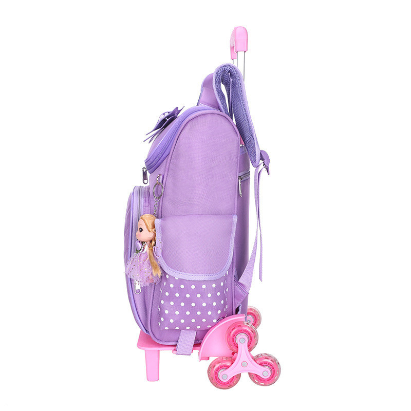 Animated Cartoons Trolley School Bags Preschool Backpacks For Children With Wheels 6 Boys Backpack Carriage School Bag For Girls in School Bags from Luggage Bags