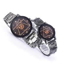 Men Women Couple Watches Fashion Sports Stainless Steel Watch