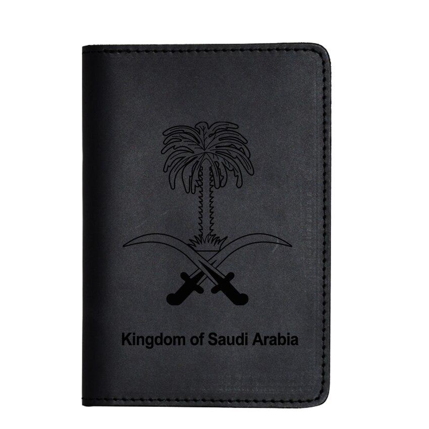 Kingdom Of Saudi Arabia Passport Cover Genuine Leather Card Holder Purse Travel Wallet Case Saudi Arabia Passport Holder
