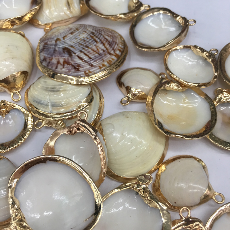 New Natural Shell Pendants Necklace Charms Necklace Pendant for Jewelry Making Supplies Stain Steel Chain Men Women Jewelry in Charms from Jewelry Accessories