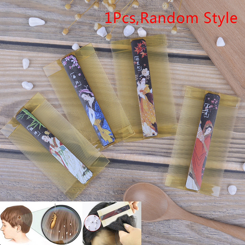 Resin Dense-toothed Comb Lice Comb Double Sided Head Lice Comb Anti-dandruff Comb Hairdressing Comb Hair Care Accessories Tool