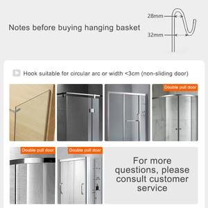 Image 4 - Bathroom Shower Shelves 2 Layer Shampoo Holder Bath Storage Towel Hanging Bathroom Stainless Steel Polished ELM330