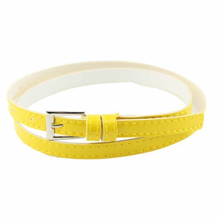 הנמכר ביותר חדש דק חגורת גבירותיי צבעים בוהקים אופנה פופולרי פשוט סגנון משחק יומי רחוב הכה יום הולדת מתנות