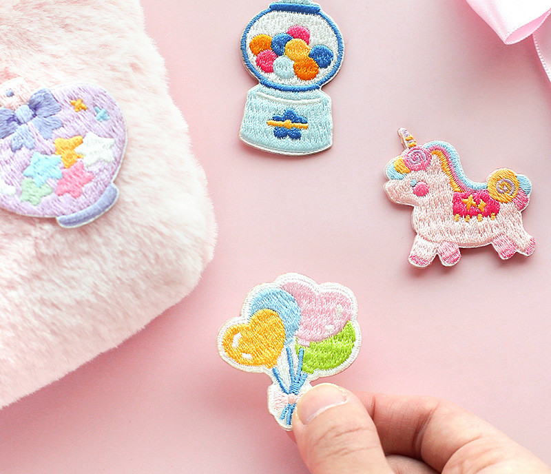 Colorful Ballon Unicorn Floral Candy Theme Mini Sticky Cloth Sticker DIY Decoration Supplies 2020 New Stationery Gift