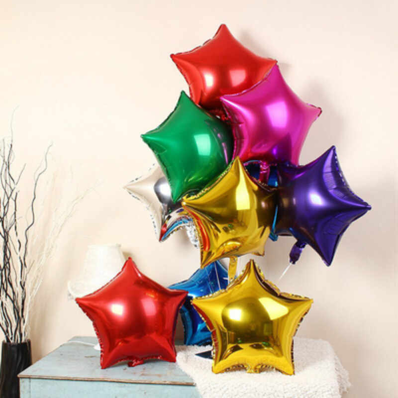 DCM 10 inch Five-pointed star foil balloon baby shower wedding children's birthday party decorations kids balloons globos@06