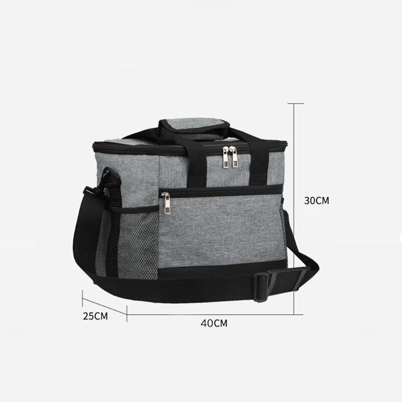 de almoço bolsa sólida térmica lancheira saco