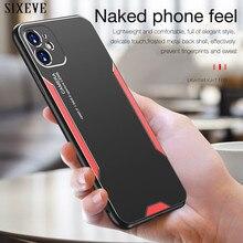 Ультратонкий металлический чехол из алюминиевого сплава для iPhone 11 12 Pro X XR XS Max SE 2020 iPhone 8 7 6 6S Plus силиконовый защитный чехол