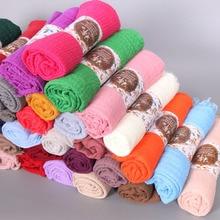 26 pçs/lote Mulheres Dobra algodão Bolha popular plain wrinkle scarf shawl enrole muçulmano hijab headband armar lenços populares