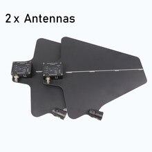 Betagear receptor sem fio digital com antena direcional ativa ua874 antena uhf integrado amp (470-950mhz) para microfone sem fio