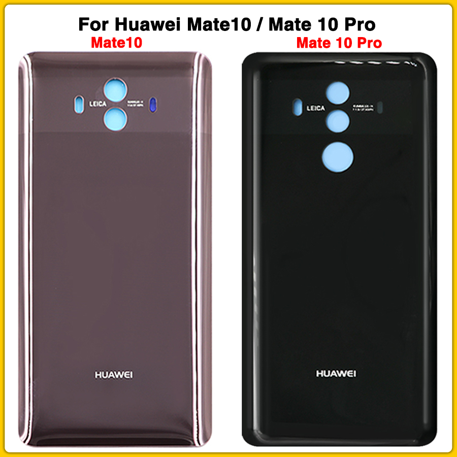 New Mate 10 Rear Housing Case For Huawei Mate10 Mate 10 Pro Battery Cover Door Rear Back Cover Glass Replacement Parts