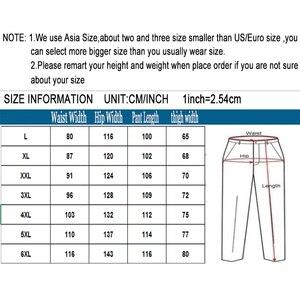Image 5 - קיץ סתיו אופנה גברים מכנסיים מקרית כותנה מכנסיים ארוכים ישר רצים Homme בתוספת גודל 5xl 6xl שטוח מכנסיים לגברים בגדים