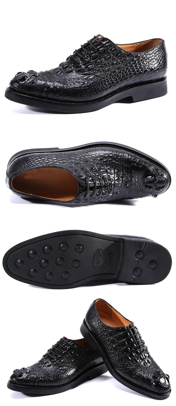 Jineyu sapatos masculinos sapatos de crocodilo sem
