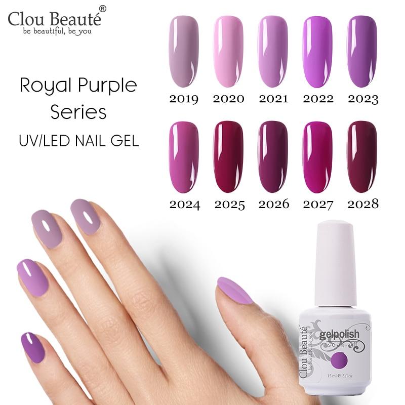 Clou Beaute Gel Nail Polish 15ml Nail Design 131 Colors Varnish