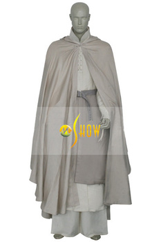 New arrival Lord Of The Rings Gandalf Cosplay costume cartoon movie role mens halloween suit on wholesale custom made