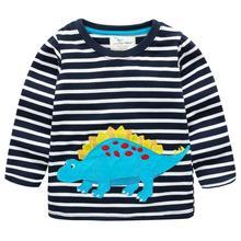 Boys T shirt New Cartoon Spring Baby for Cute Dinosaur Print Fashion Tops Children Autumn Clothes Kids