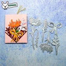 Naifumodo Cutting Dies Metal Flower Die Scrapbooking Album Card Making Embossing Stencil Diecuts Decoration