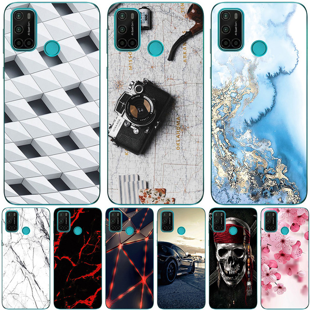 Phone Bags & Case For Vsmart Joy 4 2020 6.53 Inch Cover Soft Silicone Fashion Marble Inkjet Painted Shell Capa