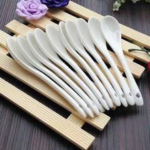 Grande/pequena cerâmica porcelana melamina colheres cozinha chá café branco colheres açúcar sobremesa colher cozinha ferramenta