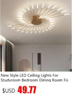 Белая/черная оправа светодиодный потолочный светильник для Спальня