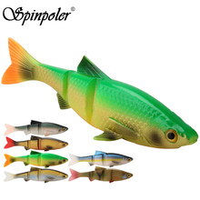 Spinpoler 3 sections soft fishing lure Trout Pike SwimBait Soft Plastic Sinking 8cm 10cm 12.7m Aritificial Silicone soft fishing