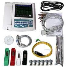 CONTEC ECG1200G цифровой 12 каналов/свинец EKG+ ПК синхронизация программного обеспечения, электрокардиограф CE, FDA сенсорный экран