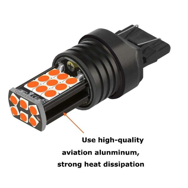 1PC 1156 BA15s P21W 1157 BAY15D P21/5W T20 W21W 7440 W21/5W 7443 T15 W16W LED Car Brake Lamp Turn Signal Bulb Auto Reverse Light