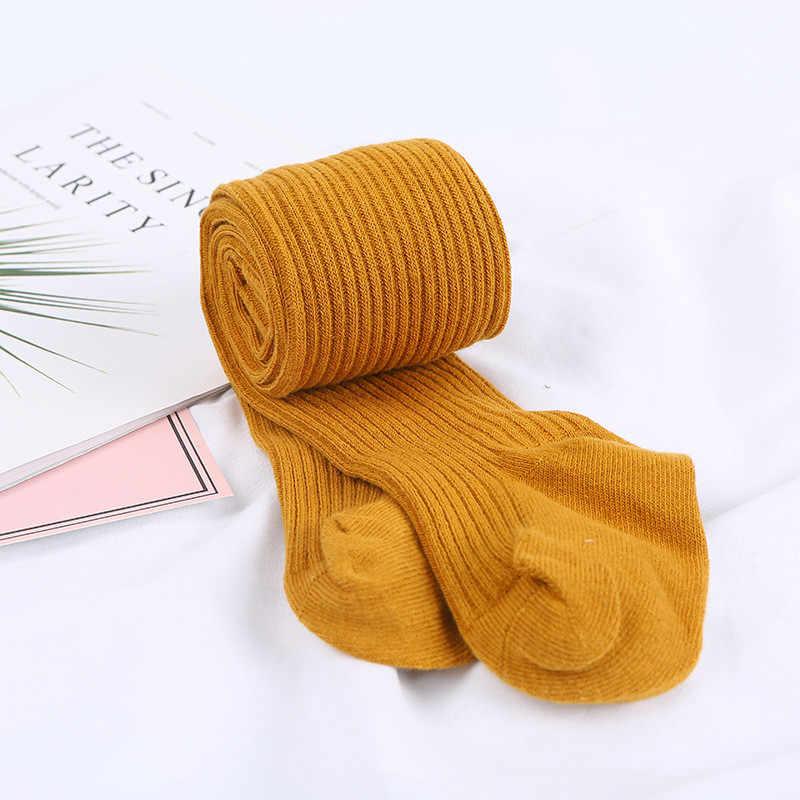 Herfst Winter Baby Panty Sweet Baby Peuter Kid Meisje Geribbelde Kousen Soft Cotton Warm Panty Solid Candy Kleur Strakke 0-4Y