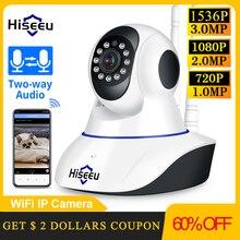 Hiseeu 1080P 1536P IP كاميرا لاسلكية كاميرا مراقبة للمنزل كاميرا مراقبة واي فاي للرؤية الليلية كاميرا تلفزيونات الدوائر المغلقة 2mp مراقبة الطفل