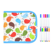 Portable Water Drawing Board Book Board toys Kids Crafts Scratch Coloring Book D
