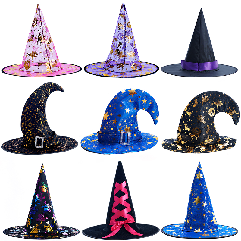 Halloween Witch Hat Pumpkin Magic Hat Performance Props Cosplay Performance Props For Boys And Girls