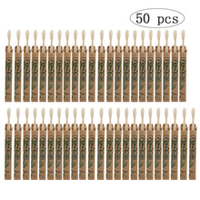 50 Pack Natural Bamboo Toothbrush Wood Toothbrushes Soft Bristles Capitellum Fiber Teeth brush Eco-Friendly Oral Care wholesale denture cleaning brush multi layered bristles false teeth brush oral care tool bristles page 8