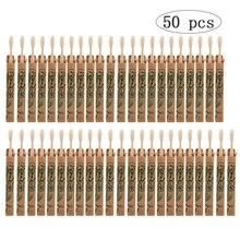 50 Pack Naturale di Bambù Spazzolino Da Denti di Legno Spazzolini Da Denti Setole Morbide Capitello In Fibra di spazzola I Denti Eco Friendly Igiene Orale Commercio Allingrosso