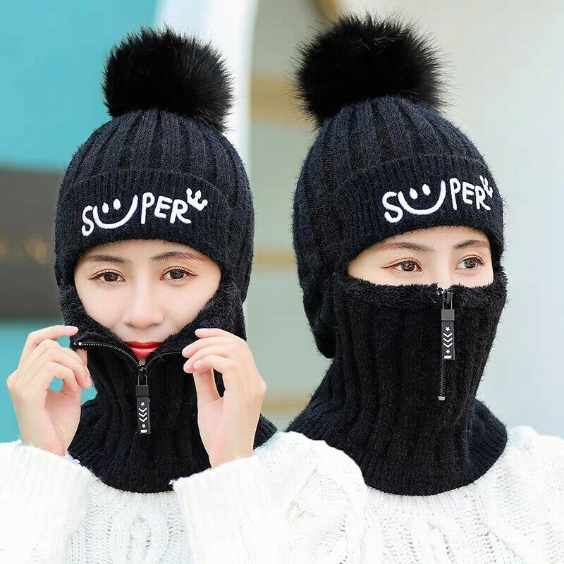 Fashion Men Women Winter Scarf And Hat Set Knitted Warm Beanie Skullcaps Knit Neck Warmer Pom Hat Cap Mask Scarf Neck Beanie 3FS