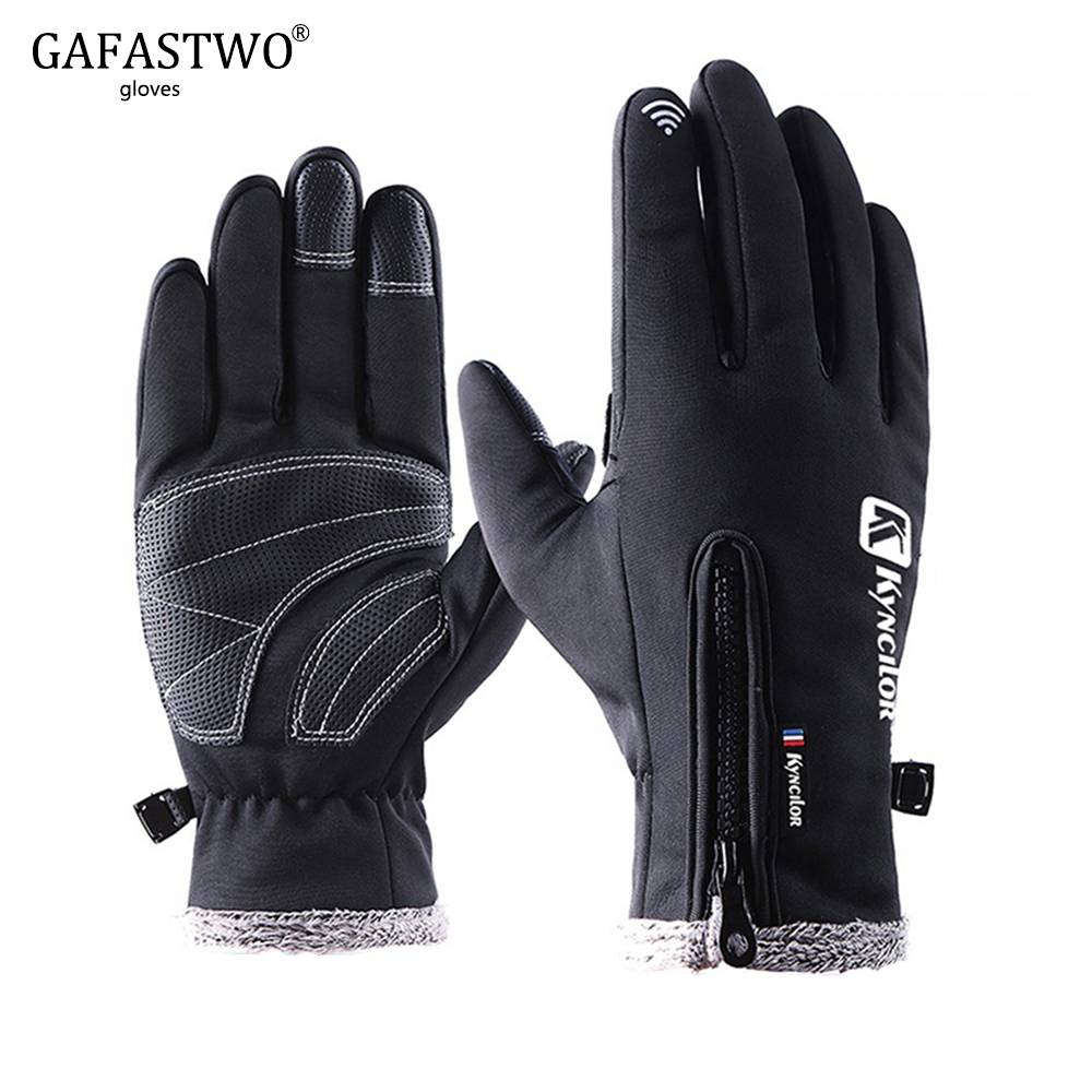Winter Warm Waterproof Touch Screen Men Ski Gloves Women Windproof Fashion Plus Velvet Outdoor Sports Riding Lady Gloves