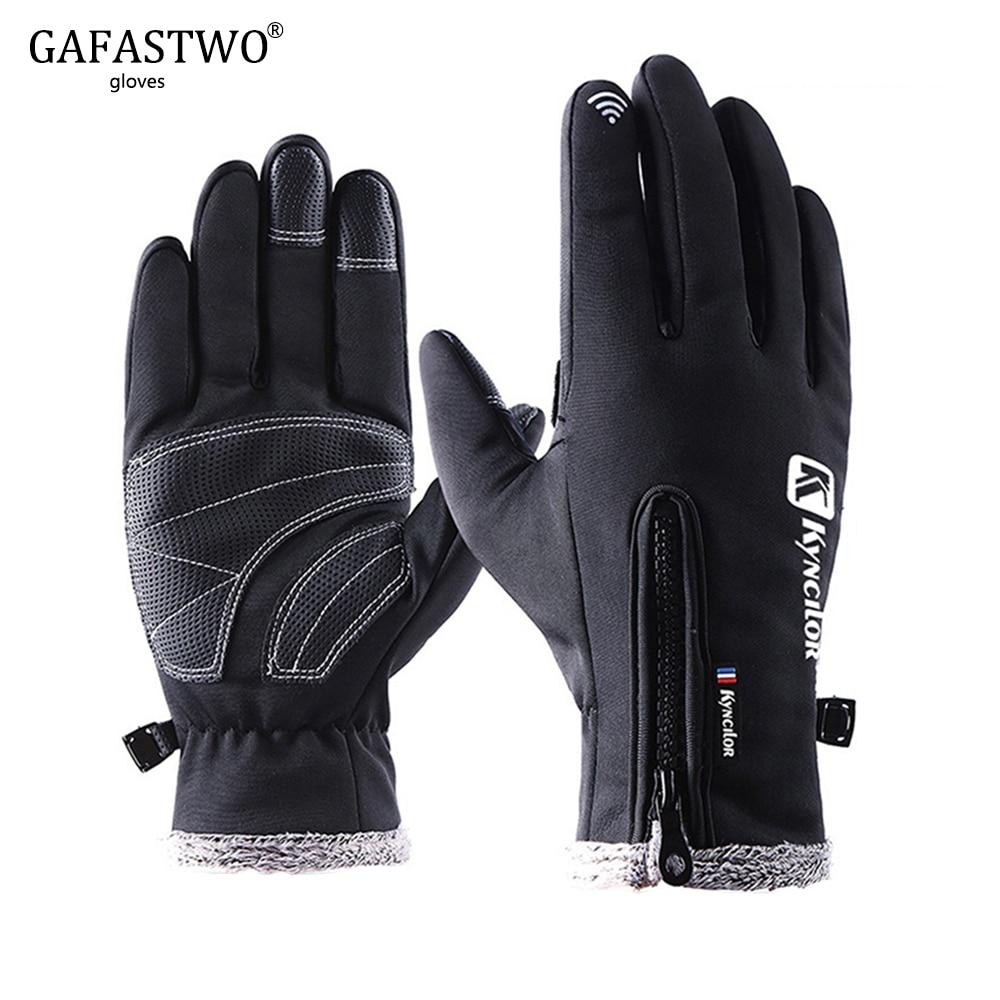 Winter Warm Waterproof Touch Screen Men Ski Gloves Women Windproof Fashion Plus Velvet Outdoor Sports Riding Lady Gloves