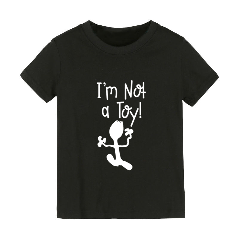 I'm not a Toy Print Kids tshirt Boy Girl shirt Children Toddler Clothes Funny Street Top Tees CZ-160 image