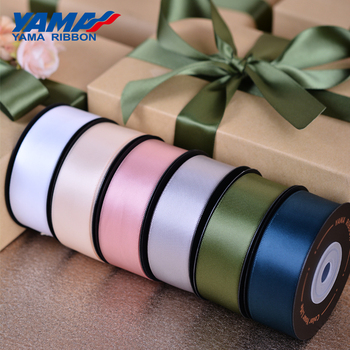 YAMA Double Face Satin Ribbon 25mm 10yards/roll  1 inch Ribbon for Crafts DIY Handmade Packing Wedding Party Decoration off white color gold purl twill ribbon 1 1 2 38mm handmade wedding diy crafts tape