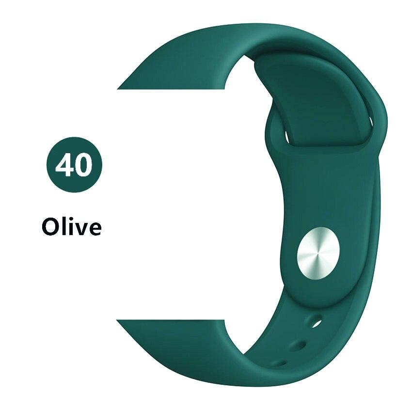 Ремешок для apple watch band 44 мм/40 мм iwatch band 5 4 42 мм 38 мм correa pulseira watch band для apple watch 5 4 3 браслет 44 мм - Цвет ремешка: Ovile