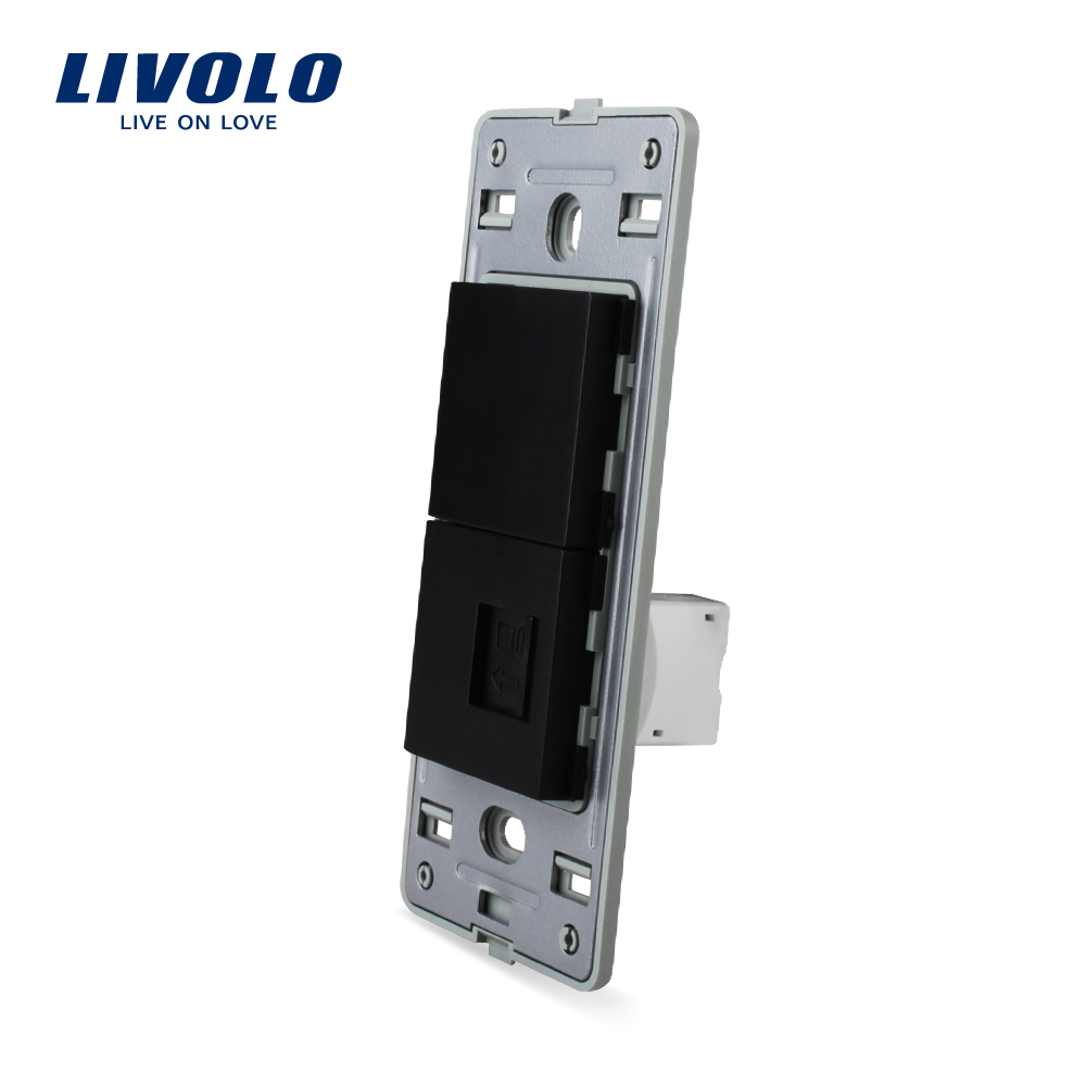 Livolo US Standard Socket DIY Parts,White Plastic Materials,Function Key For US Wall Socket,com,tele,hdmi,usb Sockets,wall Plug