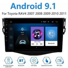 Android 9.1 For Toyota RAV4 2007-2011 Car GPS Navigation radio Player Multimedia BT gps